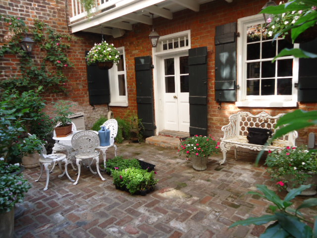 A progressive dinner party in three french quarter for French courtyard garden ideas