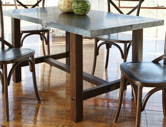 Zinc Top Dining Table. Zinc Top Dining Table Dining Tables Tables ...