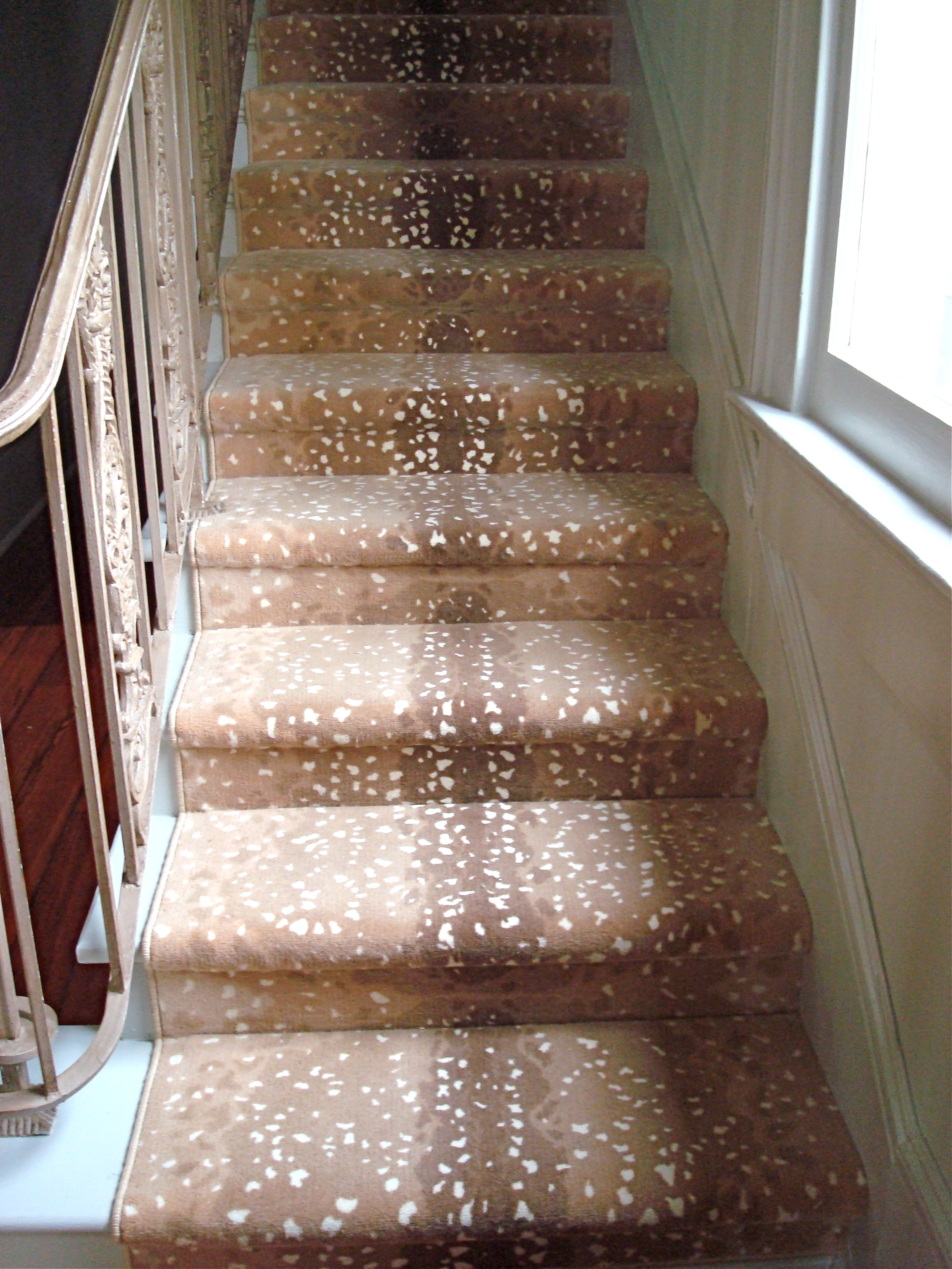 Case study a new orleans traditional home is updated Antelope pattern carpet