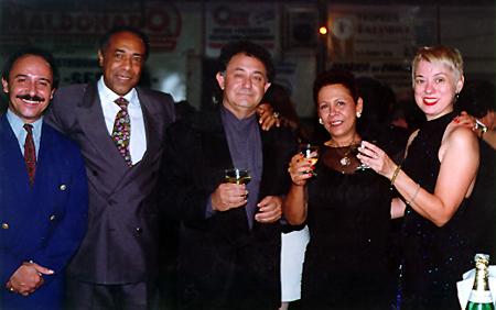 Jorge Firpo, Facundo Posadas, Alberto Paz, Kely Posadas and Valorie Hart at Club Akarense